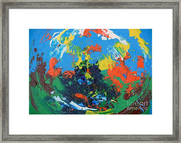 Framed Print featuring the painting Abstract Painting R1115a by Mas Art Studio