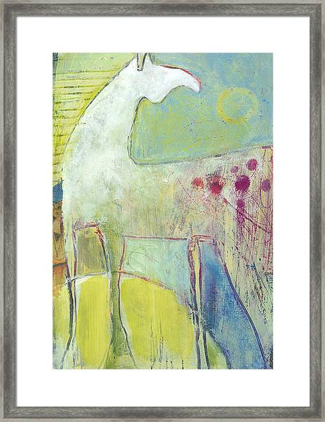 Framed Print featuring the painting Abstract Pony No 4 by Shelli Walters