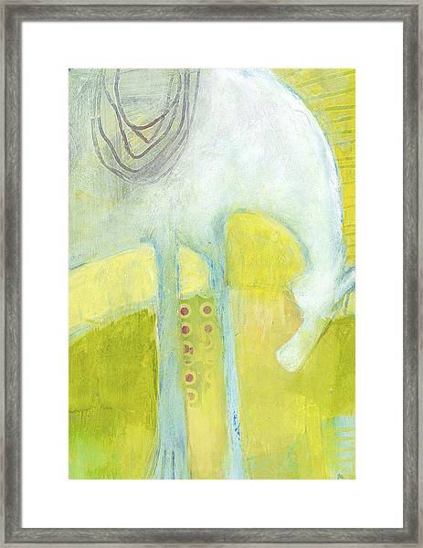 Framed Print featuring the painting Abstract Pony No 7 by Shelli Walters