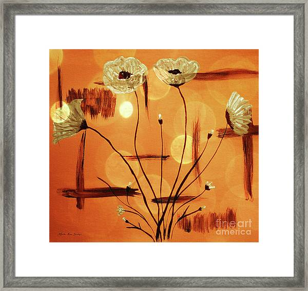 Framed Print featuring the painting Abstract Poppies Series C42016 by Mas Art Studio