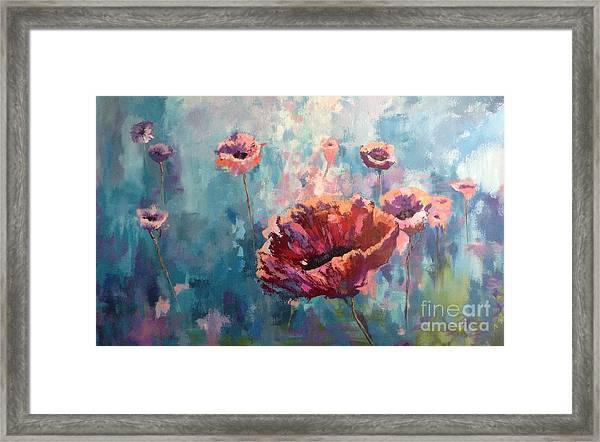 Abstract Poppy Framed Print