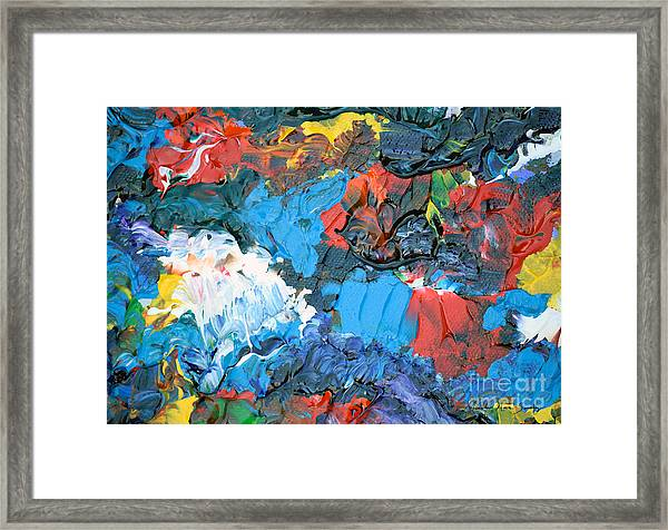 Framed Print featuring the painting Abstract Q1112a  by Mas Art Studio