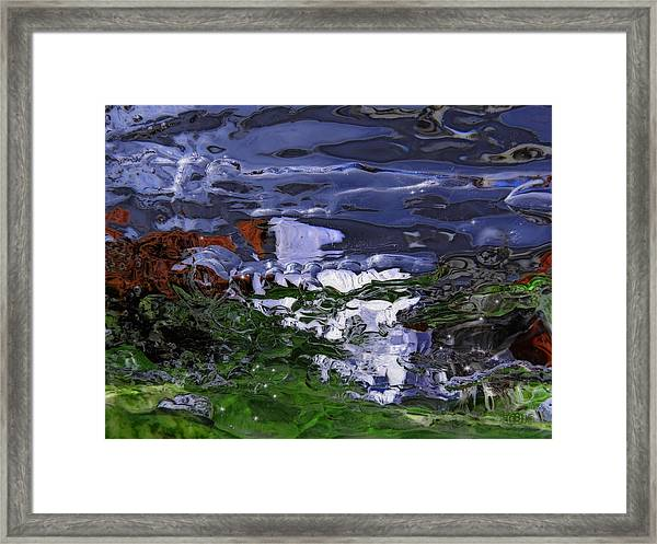 Abstract Rapids Framed Print