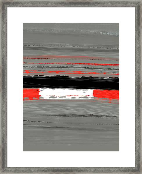 Abstract Red 4 Framed Print