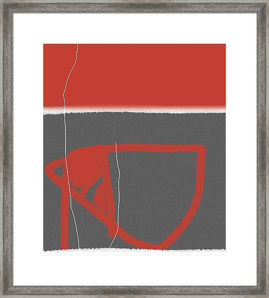 Abstract Red Framed Print