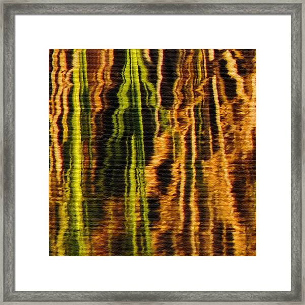 Abstract Reeds Triptych Middle Framed Print