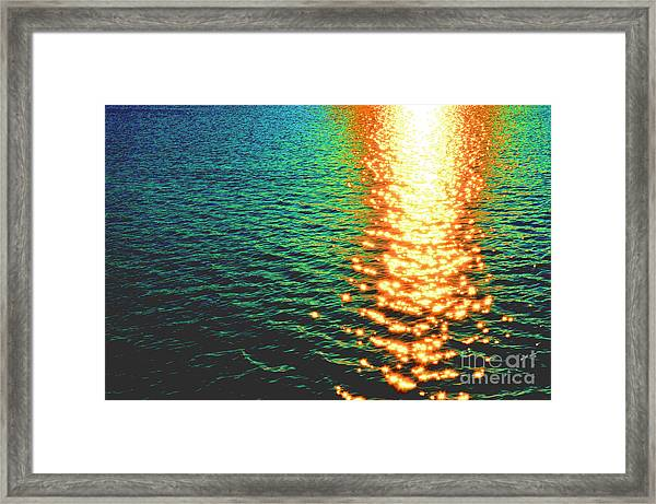 Abstract Reflections Digital Painting #5 - Delaware River Series Framed Print