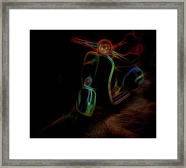 Abstract Scooter Framed Print by Elijah Knight