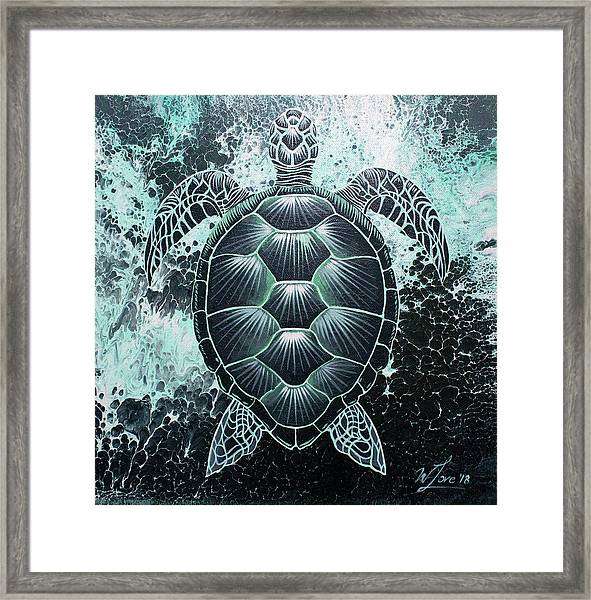 Abstract Sea Turtle Framed Print