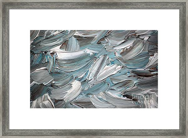 Framed Print featuring the painting Abstract Series D010816 by Mas Art Studio