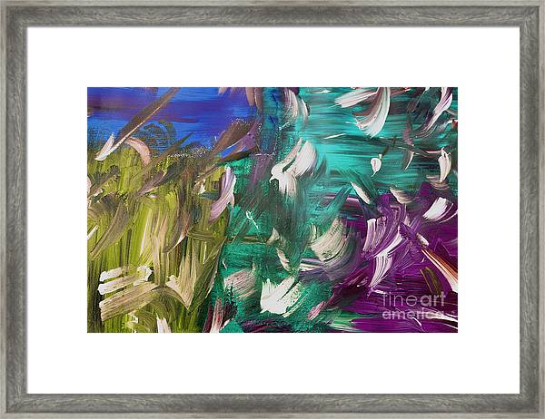 Framed Print featuring the painting Abstract Series E1015bl by Mas Art Studio