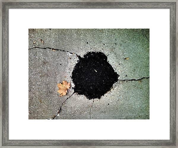 Abstract Sidewalk Framed Print