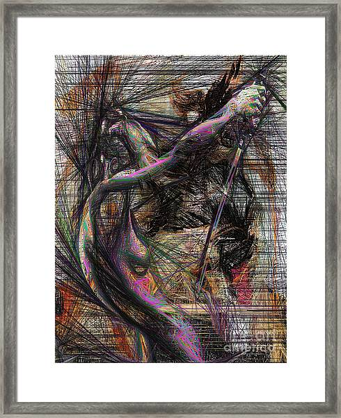Abstract Sketch 1334 Framed Print
