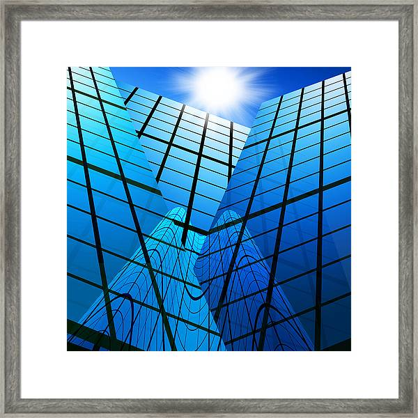 Abstract Skyscrapers Framed Print