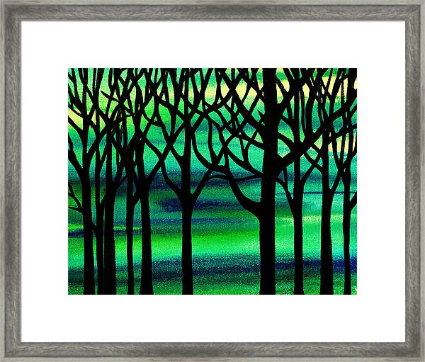 Abstract Spring Forest Framed Print