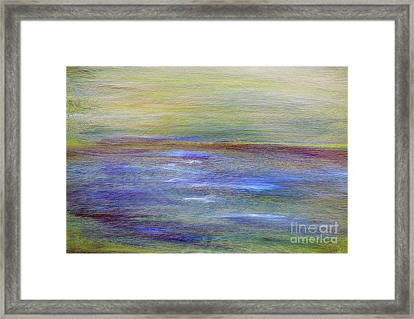 Framed Print featuring the painting Abstract Sunset A11317 by MasArtStudio