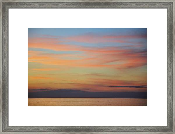Abstract Sunset By Nature Framed Print by Rose  Hill