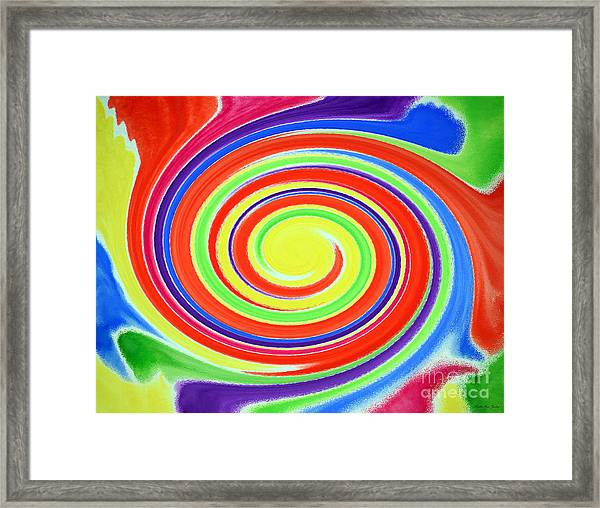 Framed Print featuring the painting Abstract Swirl A1 1215 by Mas Art Studio
