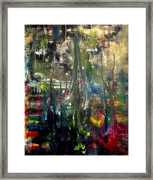 Abstract - The Man Buried In Moon River Framed Print