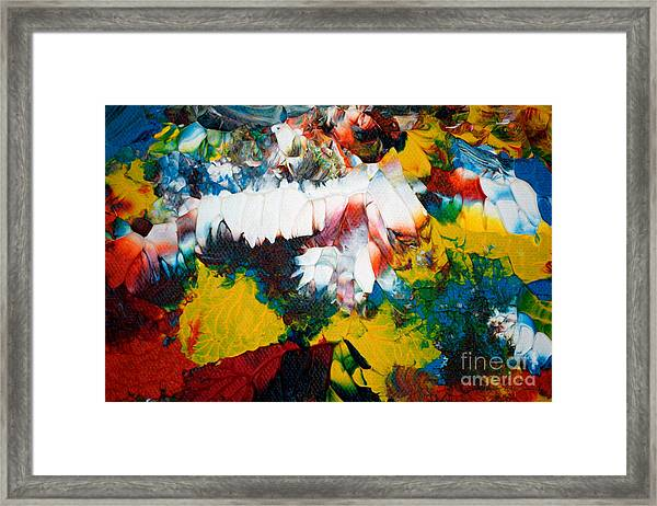 Framed Print featuring the painting Abstract U1112a by Mas Art Studio