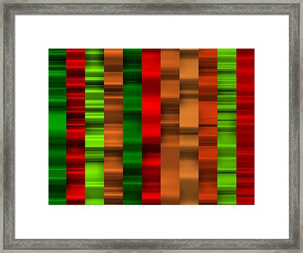 Abstract W-1 Colorist-2 Framed Print