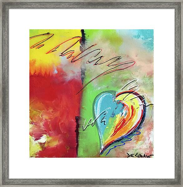 Abstract With Heart Framed Print