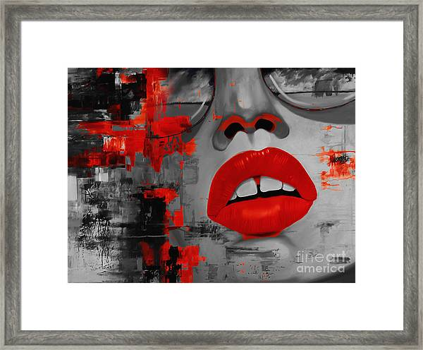 Abstract Woman Face  Framed Print