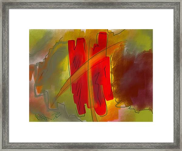 Abstraction Collect 3 Framed Print