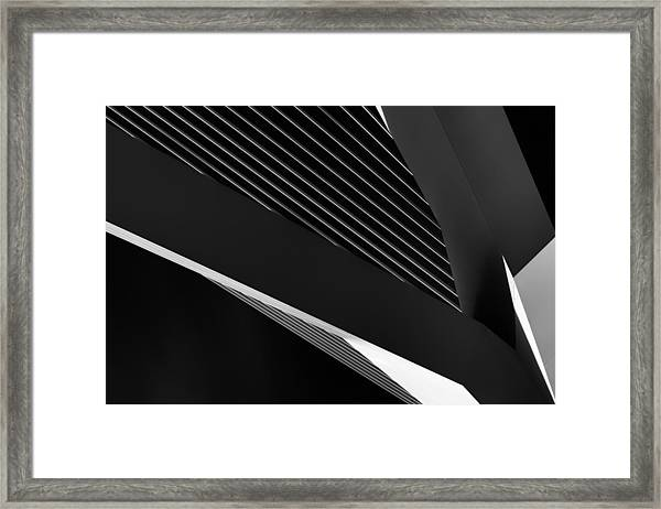 Abstraction Of A Swan Framed Print