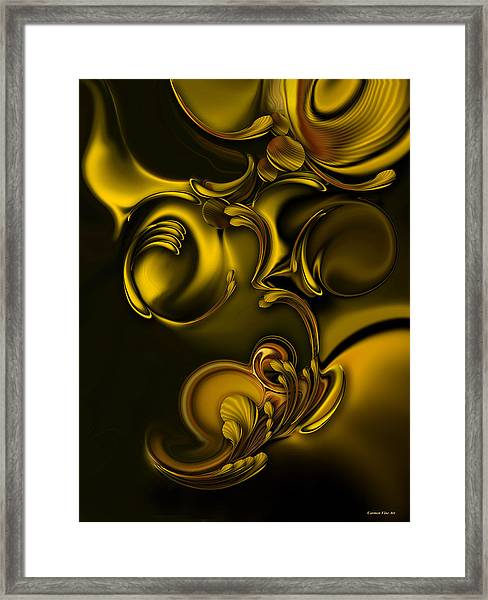 Abstraction With Meditation Framed Print