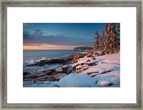 Framed Print featuring the photograph Acadian Winter by Susan Cole Kelly