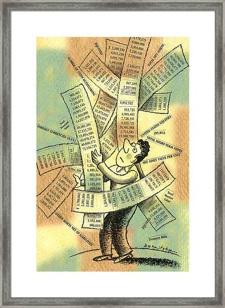 Accounting And Bookkeeping Framed Print