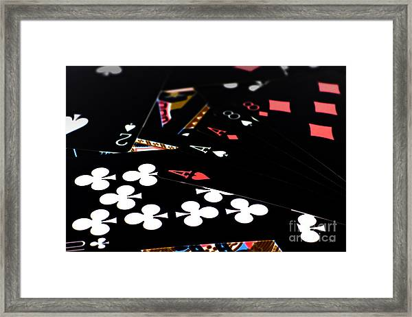 Aces And Eights Framed Print