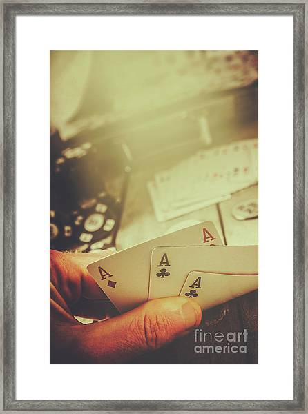 Aces Up The Sleeve Framed Print