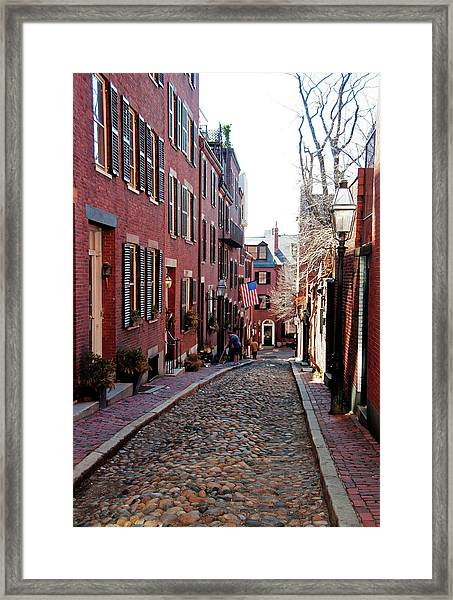 Acorn Street Beacon Hill Framed Print