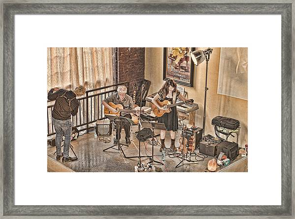 Acoustic Jazz Framed Print