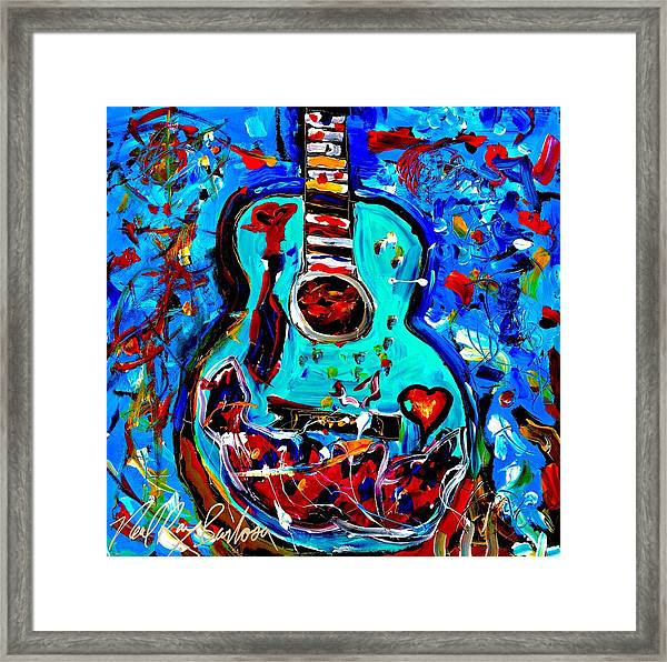 Acoustic Love Guitar Framed Print