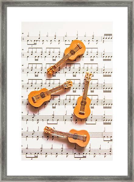 Acoustic Quartet Framed Print