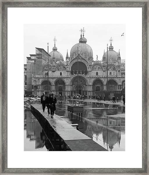 Acqua Alta, Piazza San Marco Framed Print