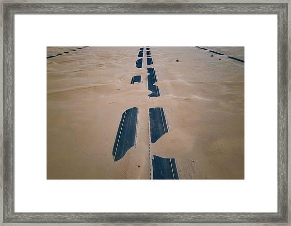 Framed Print featuring the photograph Across Sahara by Johannes Schwaerzler