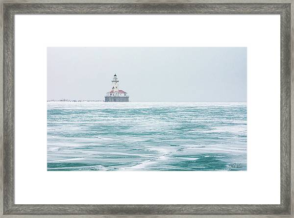 Across The Frozen Lake Framed Print