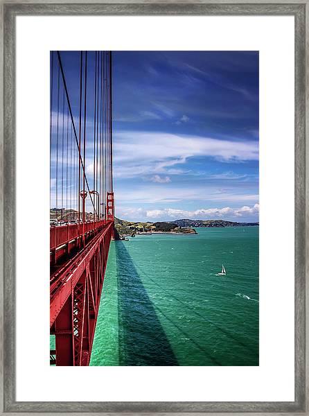 Across The Golden Gate Bridge San Francisco Framed Print