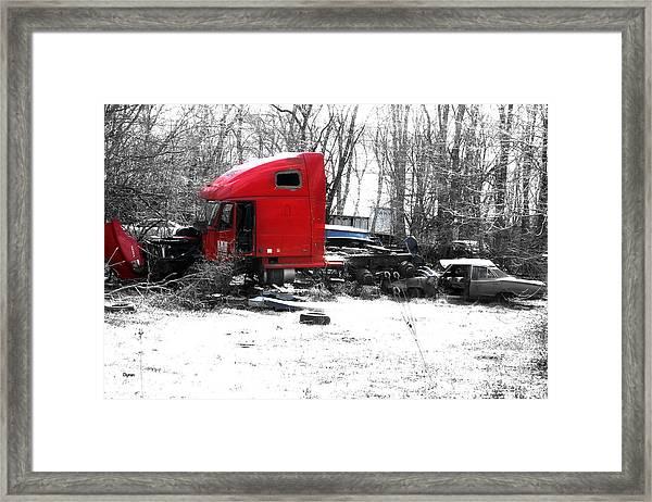 Across The Road - Rural America  Framed Print by Steven Digman