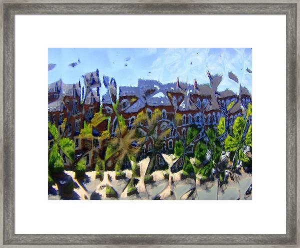 Across The Street Framed Print