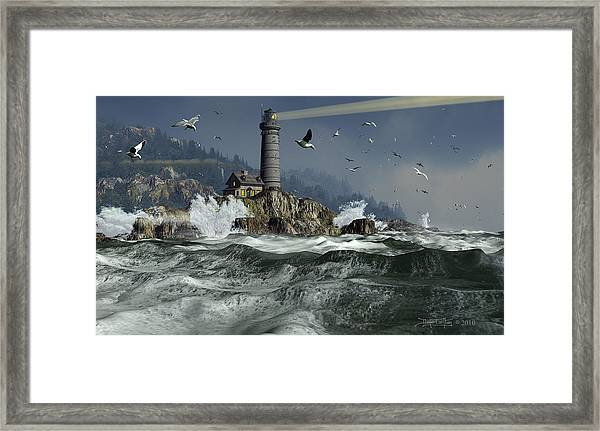 Across The Surly Brine Framed Print