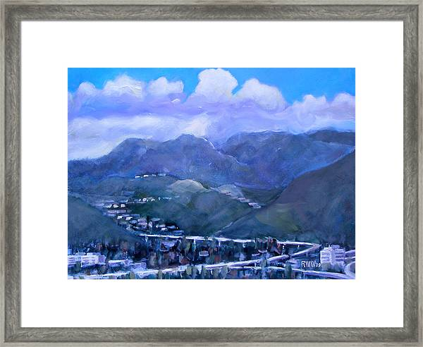 Across The Verdugo Hills Framed Print by Richard  Willson