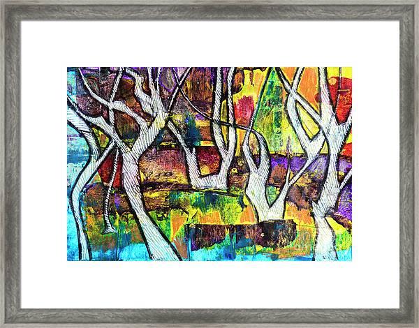 Acrylic Forest  Framed Print