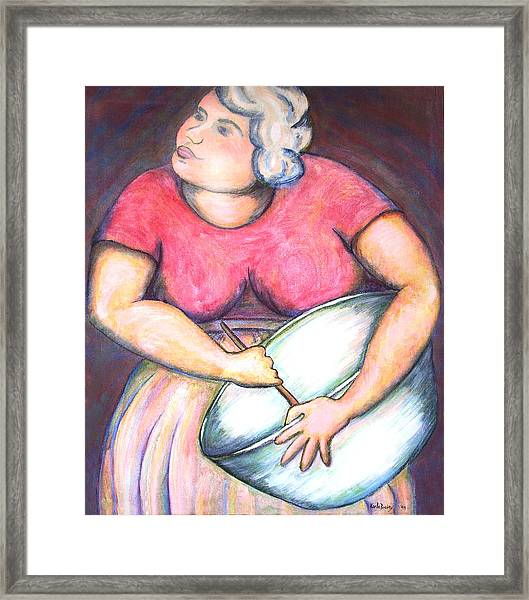 Acrylic Painting Figurative Framed Print
