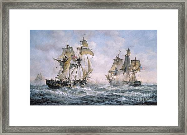 Action Between U.s. Sloop-of-war 'wasp' And H.m. Brig-of-war 'frolic' Framed Print
