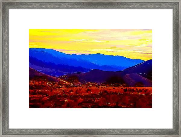 Acton California Sunset Framed Print